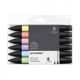 Pisak Promarker 6 szt. pastel tones kpl.