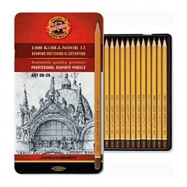 Ołówek kpl. 12 szt. Koh-I-Noor zestaw artystyczny