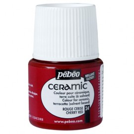 PEBEO CERAMIC - FARBA DO CERAMIKI 45 ML NR 24 CHERRY RED