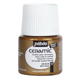 PEBEO CERAMIC - FARBA DO CERAMIKI 45 ML NR 15 RICH GOLD