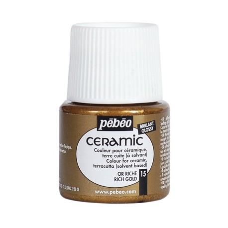 PEBEO CERAMIC - FARBA DO CERAMIKI 45 ML NR 15 RICH GOLD