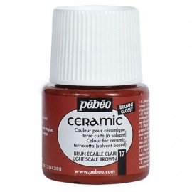 PEBEO CERAMIC - FARBA DO CERAMIKI 45 ML NR 17 LIGHT SCALE BROWN