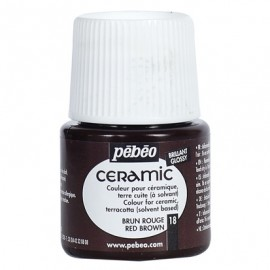 PEBEO CERAMIC - FARBA DO CERAMIKI 45 ML NR 18 RED BROWN