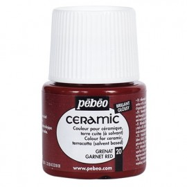 PEBEO CERAMIC - FARBA DO CERAMIKI 45 ML NR 20 GARNET RED