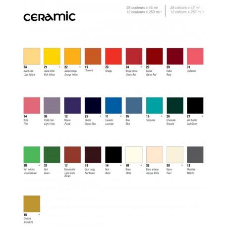 PEBEO CERAMIC - FARBA DO CERAMIKI 45 ML NR 20 GARNET RED