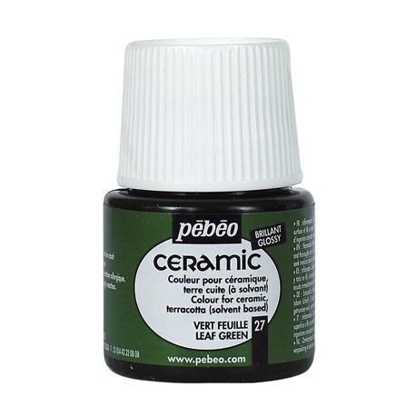 PEBEO CERAMIC - FARBA DO CERAMIKI 45 ML NR 27 LEAF GREEN