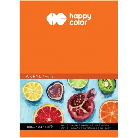 Blok do akrylu A-4 360gr 10k Happy Color