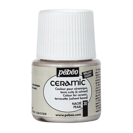 PEBEO CERAMIC - FARBA DO CERAMIKI 45 ML NR 30 PEARL