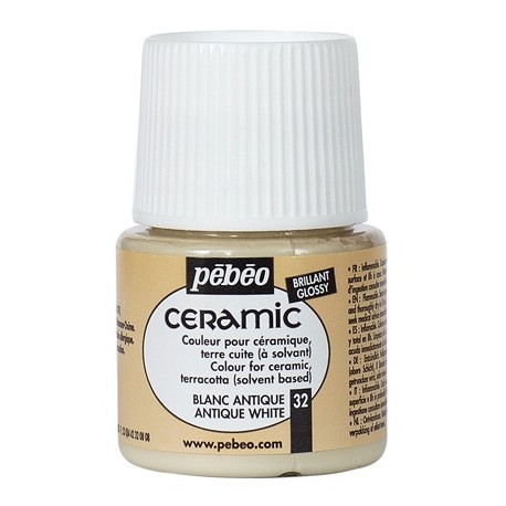 PEBEO CERAMIC - FARBA DO CERAMIKI 45 ML NR 32 ANTIQUE WHITE