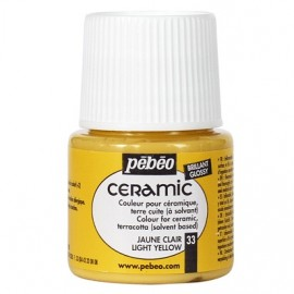 PEBEO CERAMIC - FARBA DO CERAMIKI 45 ML NR 33 LIGHT YELLOW