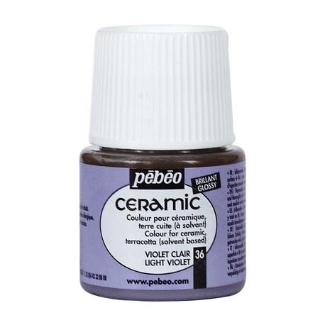 PEBEO CERAMIC - FARBA DO CERAMIKI 45 ML NR 36 LIGHT VIOLET