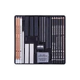 Zestaw szkicowy Black&White Box 25 elem. Cretacolor
