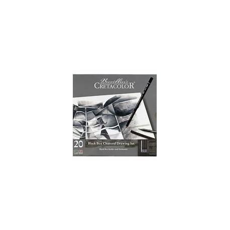 Zestaw szkicowy Black Box 20 elem. Cretacolor