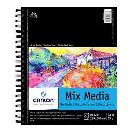 Szkicownik Mix-Media  Canson 224g 17,8/25,4 spirala