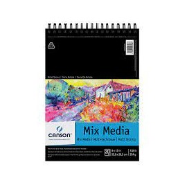 Szkicownik Mix-Media  Canson 224g 13,9/21,6 spirala